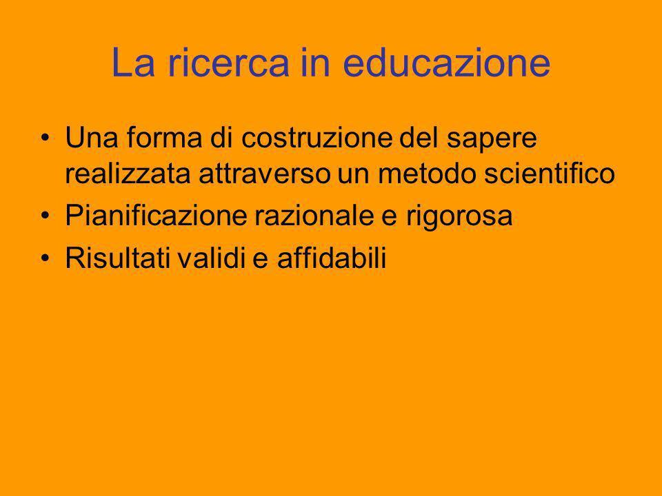 La ricerca in educazione