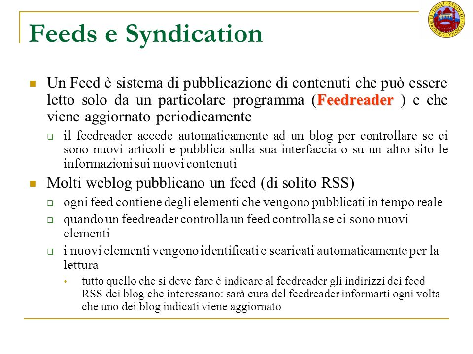Feeds e Syndication