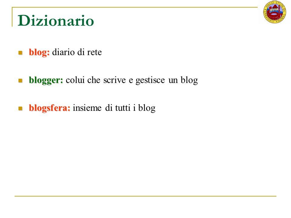 Dizionario blog: diario di rete