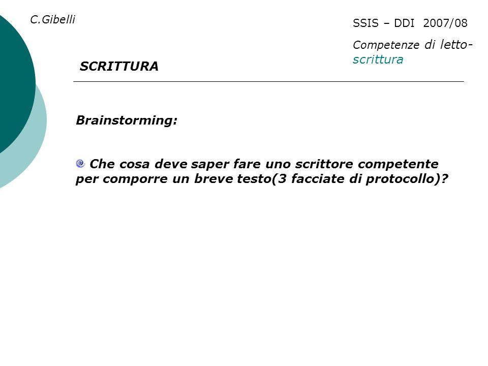 SCRITTURA Brainstorming: