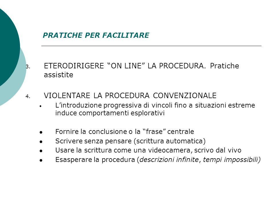 ETERODIRIGERE ON LINE LA PROCEDURA. Pratiche assistite