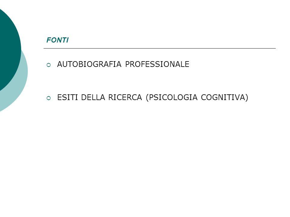 AUTOBIOGRAFIA PROFESSIONALE