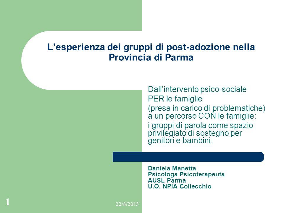 L'esperienza dei gruppi di post-adozione nella Provincia di Parma