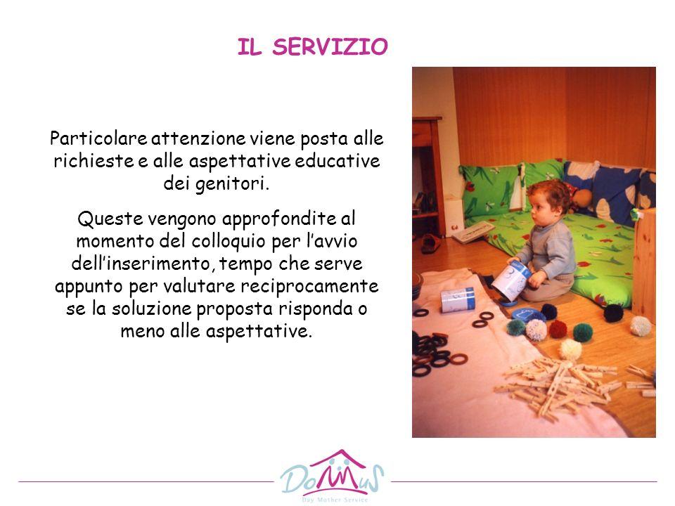 IL SERVIZIO Particolare attenzione viene posta alle richieste e alle aspettative educative dei genitori.