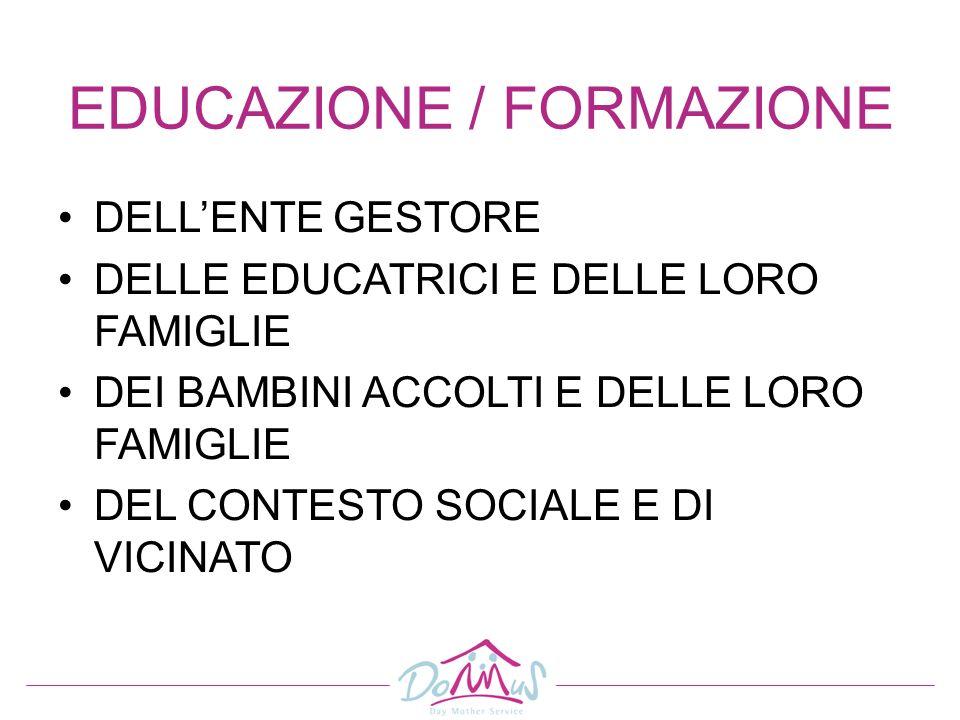 EDUCAZIONE / FORMAZIONE