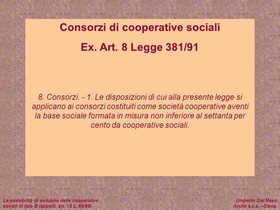 Consorzi di cooperative sociali