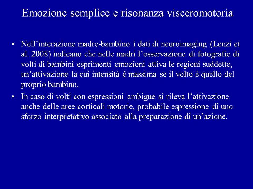 Emozione semplice e risonanza visceromotoria