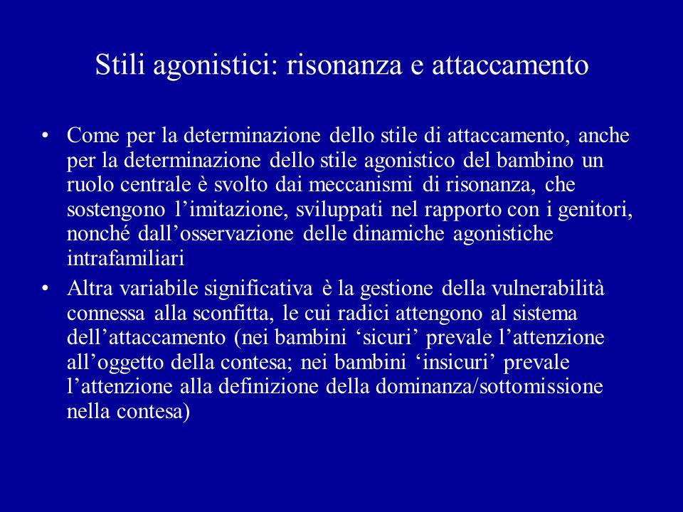 Stili agonistici: risonanza e attaccamento