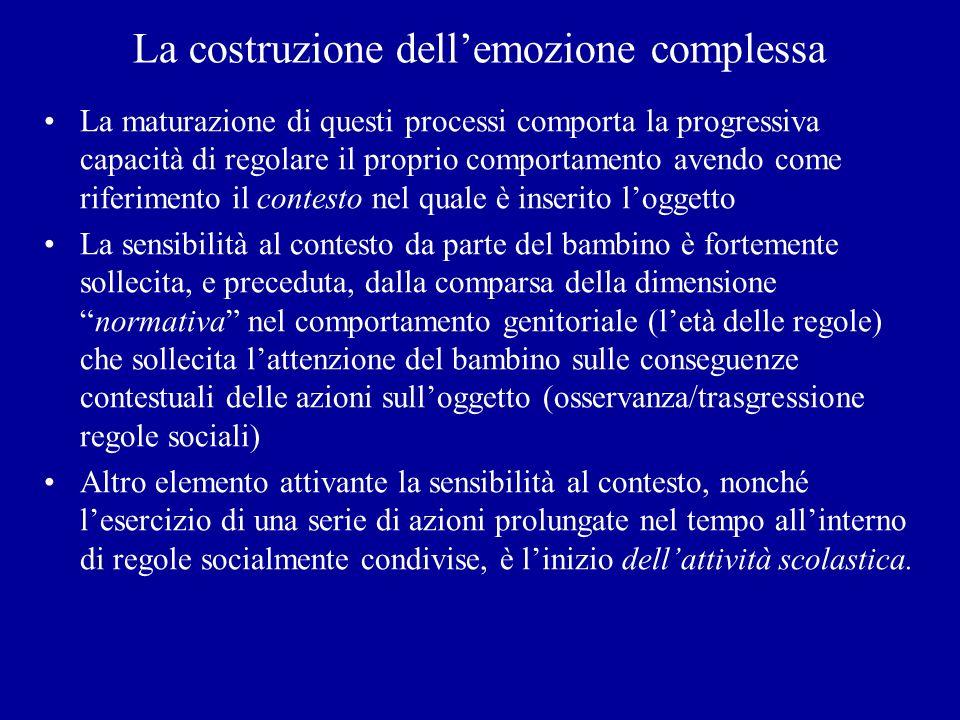 La costruzione dell'emozione complessa