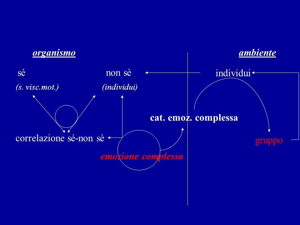 correlazione sé-non sè gruppo emozione complessa