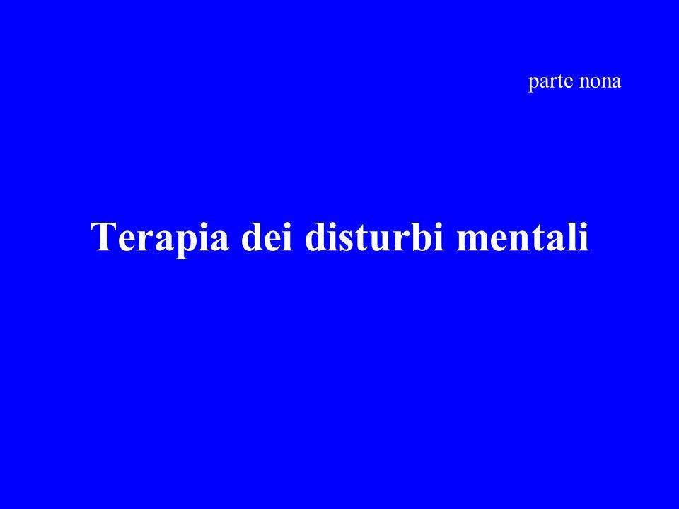 Terapia dei disturbi mentali