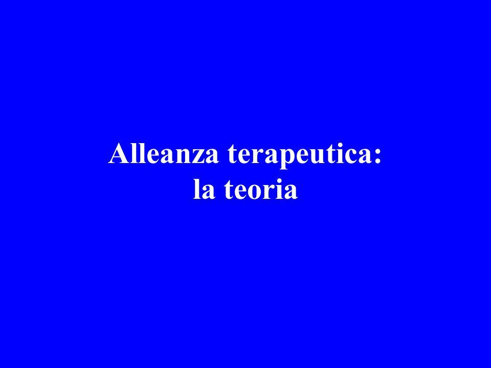 Alleanza terapeutica: la teoria