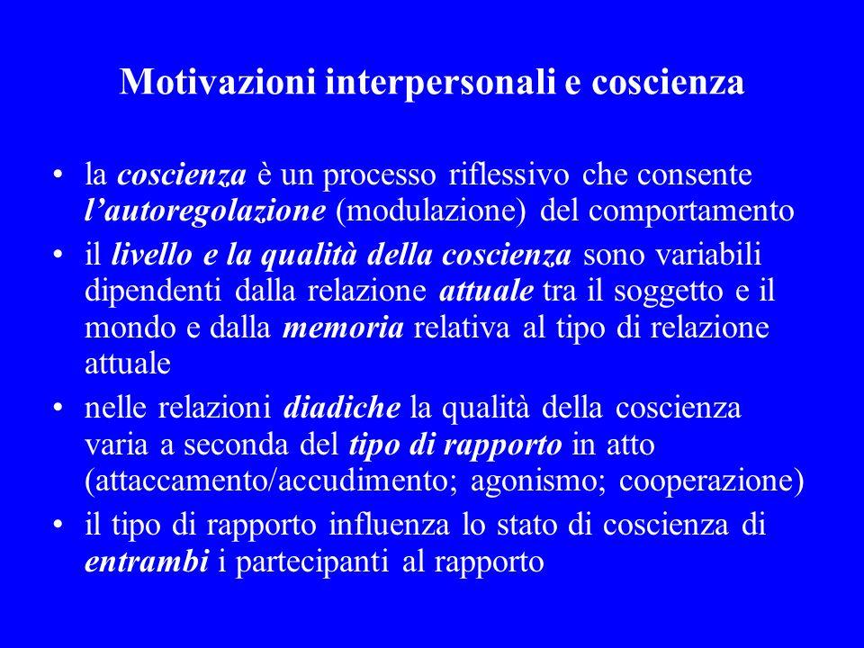 Motivazioni interpersonali e coscienza