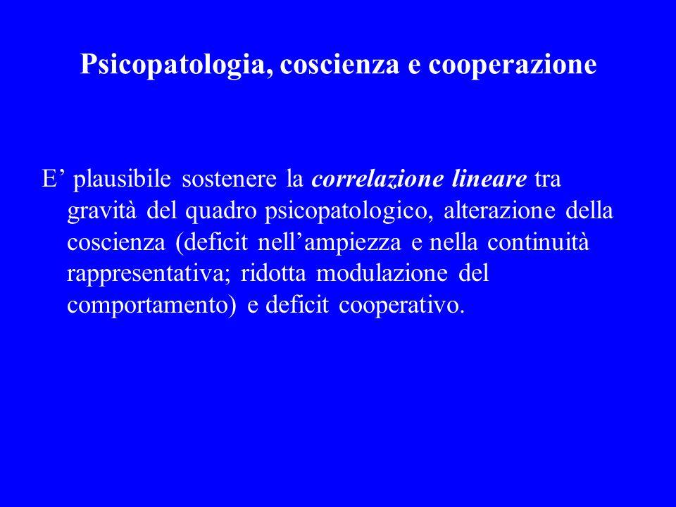 Psicopatologia, coscienza e cooperazione