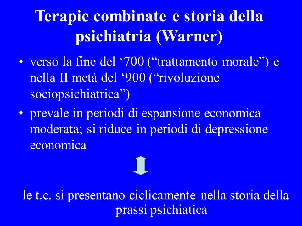 Terapie combinate e storia della psichiatria (Warner)