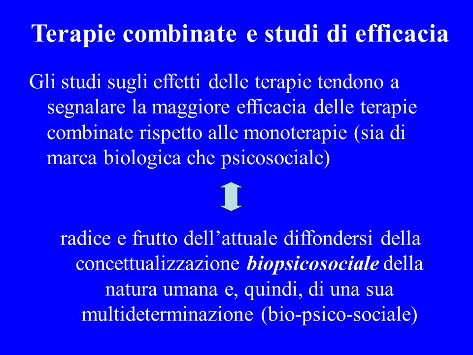 Terapie combinate e studi di efficacia