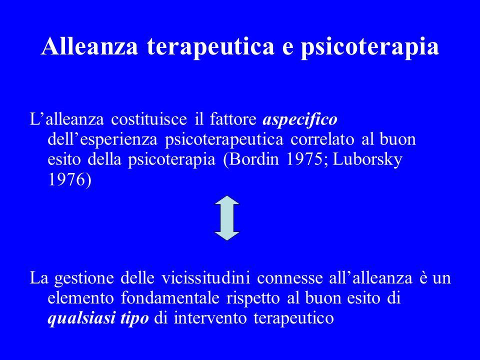 Alleanza terapeutica e psicoterapia
