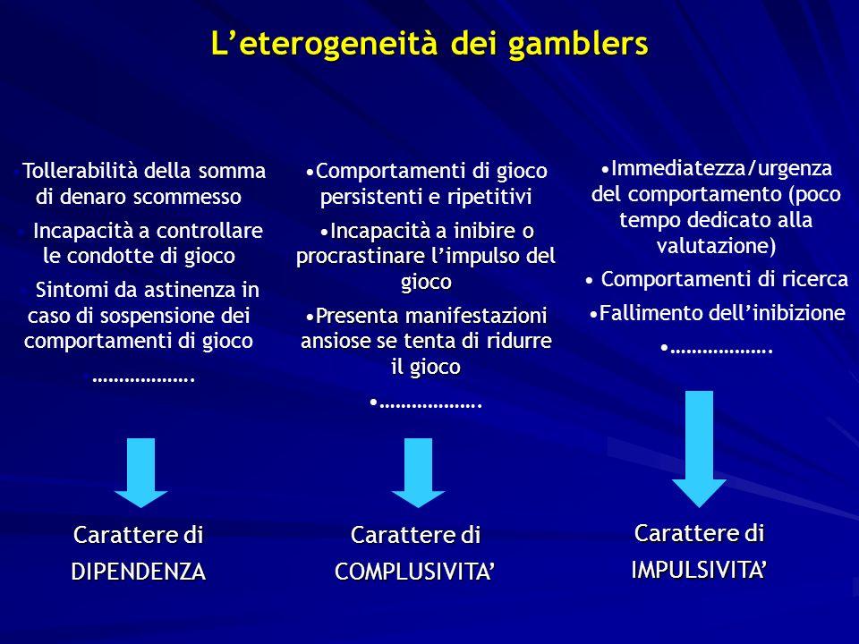 L'eterogeneità dei gamblers