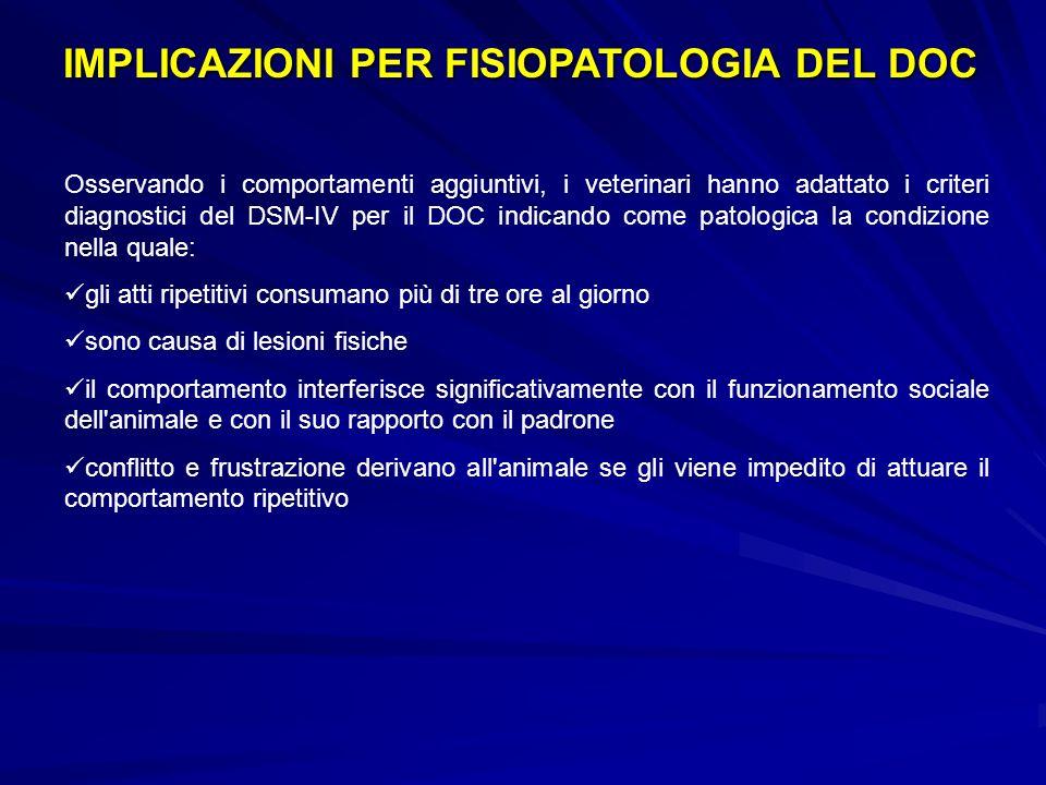 IMPLICAZIONI PER FISIOPATOLOGIA DEL DOC