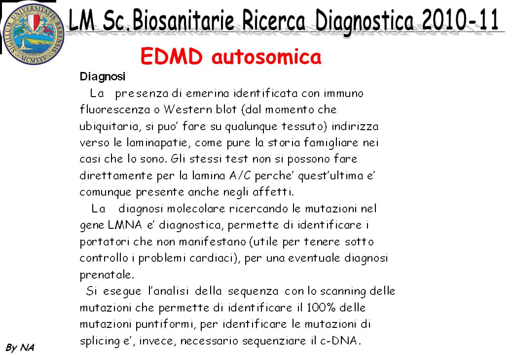 EDMD autosomica By NA