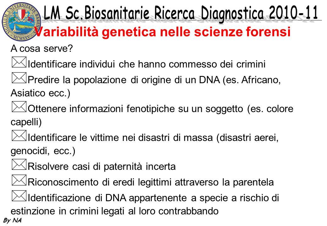 Variabilità genetica nelle scienze forensi