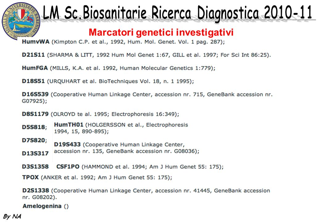 Marcatori genetici investigativi