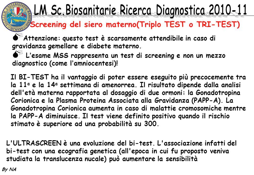 Screening del siero materno(Triplo TEST o TRI-TEST)