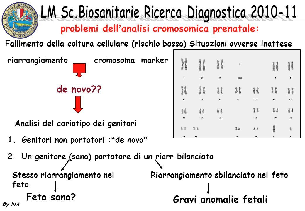 problemi dell'analisi cromosomica prenatale: