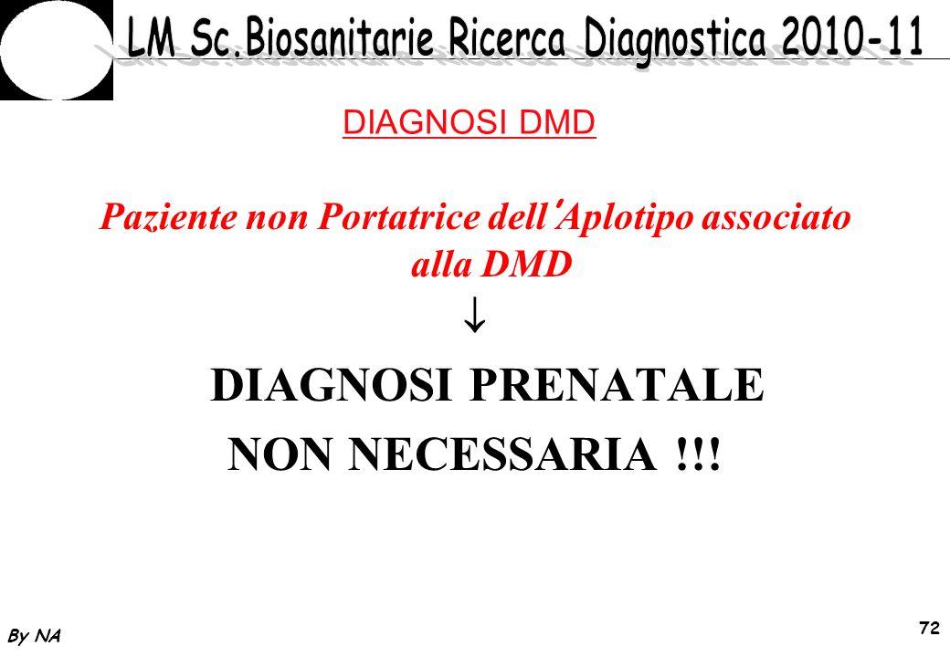 Paziente non Portatrice dell'Aplotipo associato alla DMD