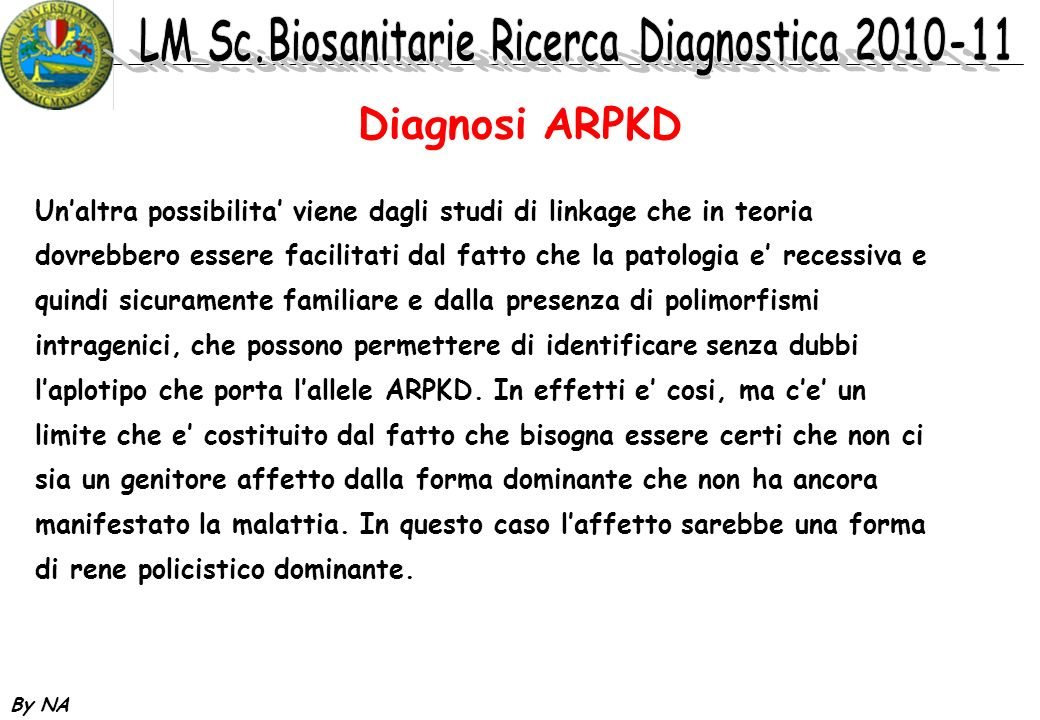 Diagnosi ARPKD
