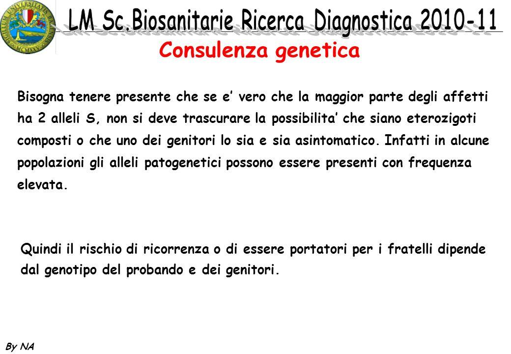 Consulenza genetica Bisogna tenere presente che se e' vero che la maggior parte degli affetti.