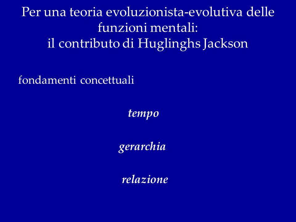 Per una teoria evoluzionista-evolutiva delle funzioni mentali: il contributo di Huglinghs Jackson