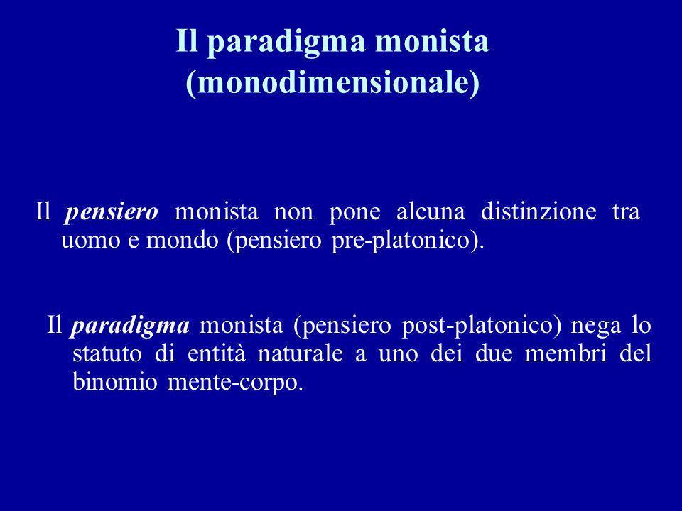 Il paradigma monista (monodimensionale)