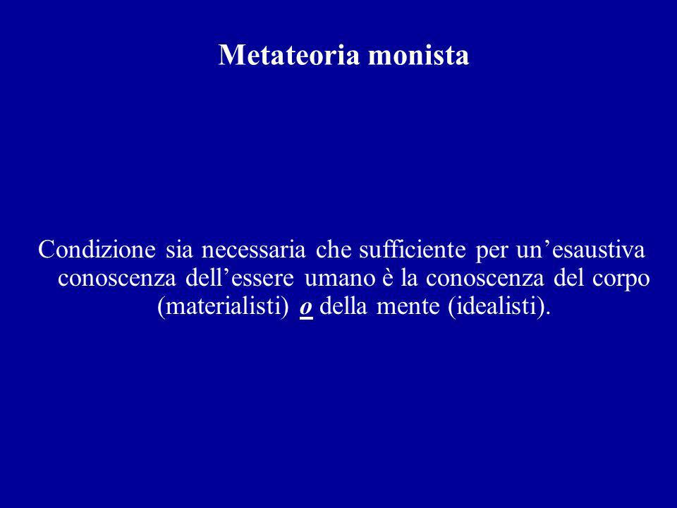 Metateoria monista