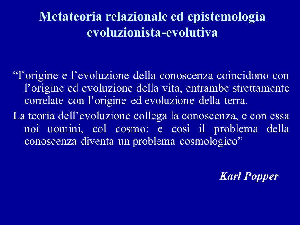 Metateoria relazionale ed epistemologia evoluzionista-evolutiva