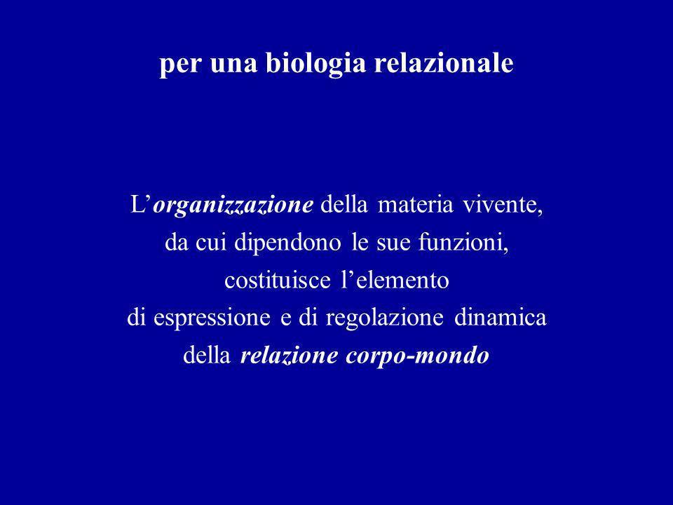 per una biologia relazionale