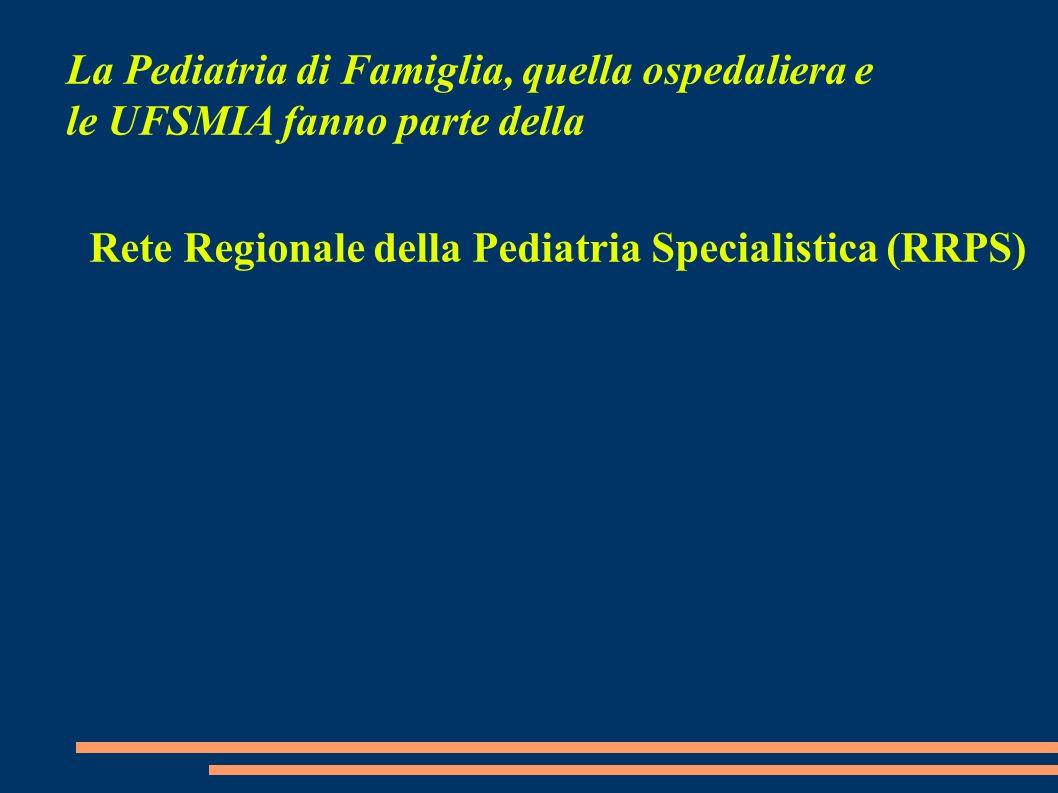 La Pediatria di Famiglia, quella ospedaliera e