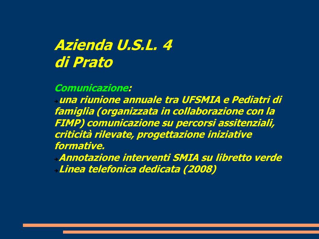Azienda U.S.L. 4 di Prato Comunicazione: