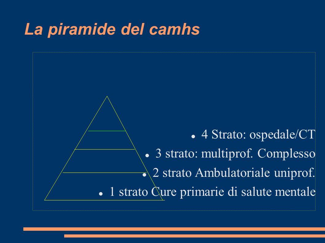 La piramide del camhs 4 Strato: ospedale/CT