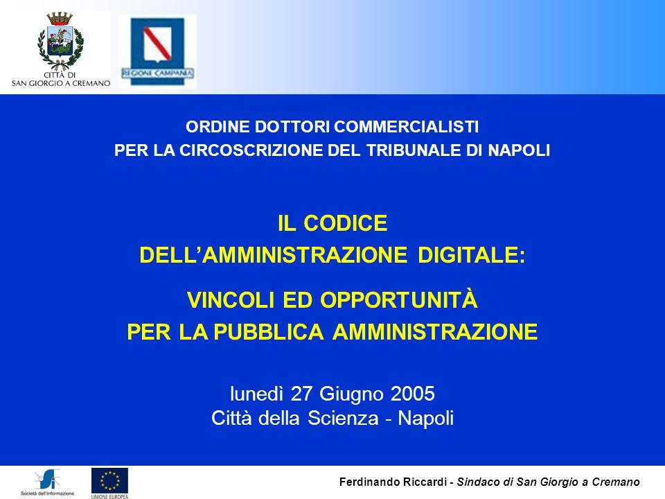 DELL'AMMINISTRAZIONE DIGITALE: VINCOLI ED OPPORTUNITÀ