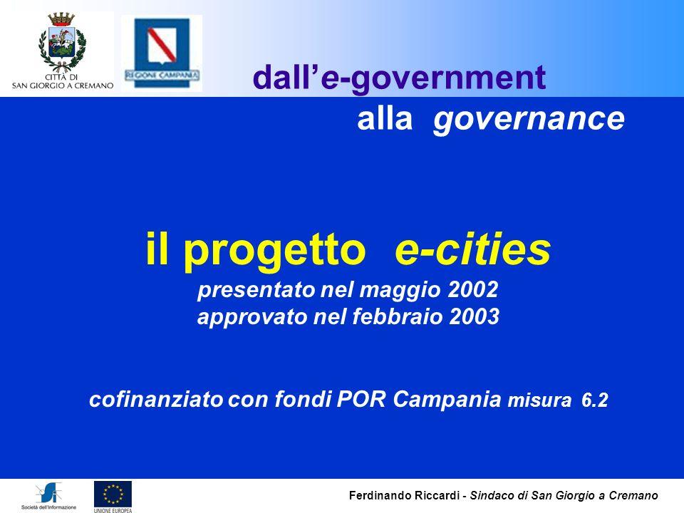 il progetto e-cities dall'e-government alla governance