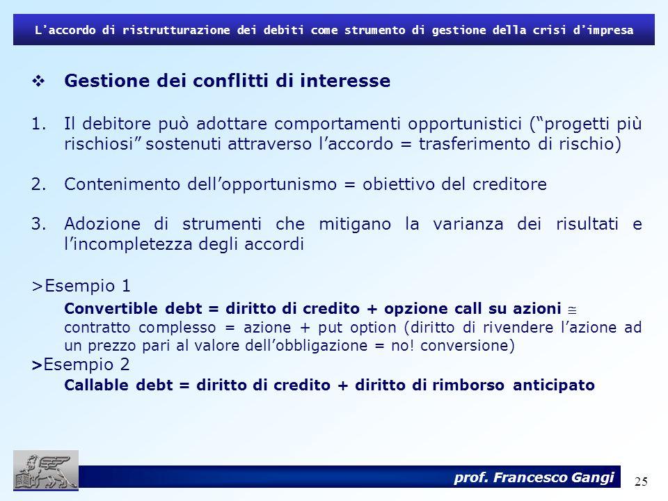Convertible debt = diritto di credito + opzione call su azioni 