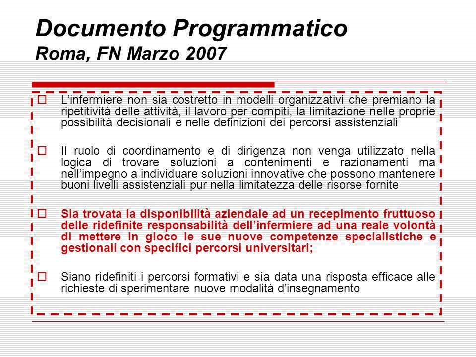 Documento Programmatico Roma, FN Marzo 2007