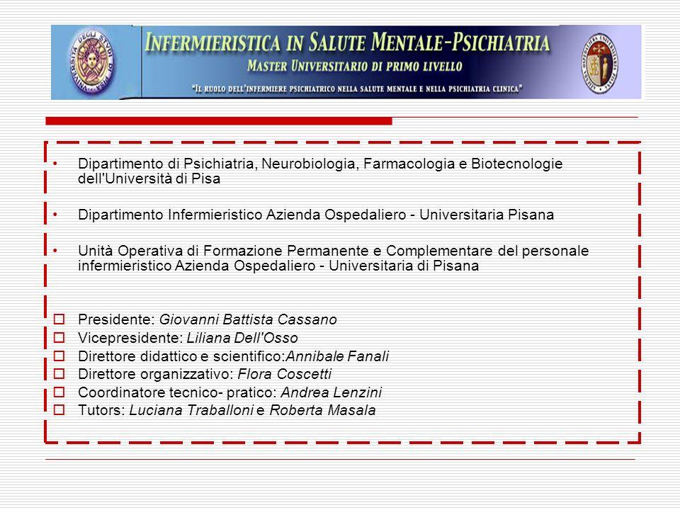 Dipartimento di Psichiatria, Neurobiologia, Farmacologia e Biotecnologie dell Università di Pisa