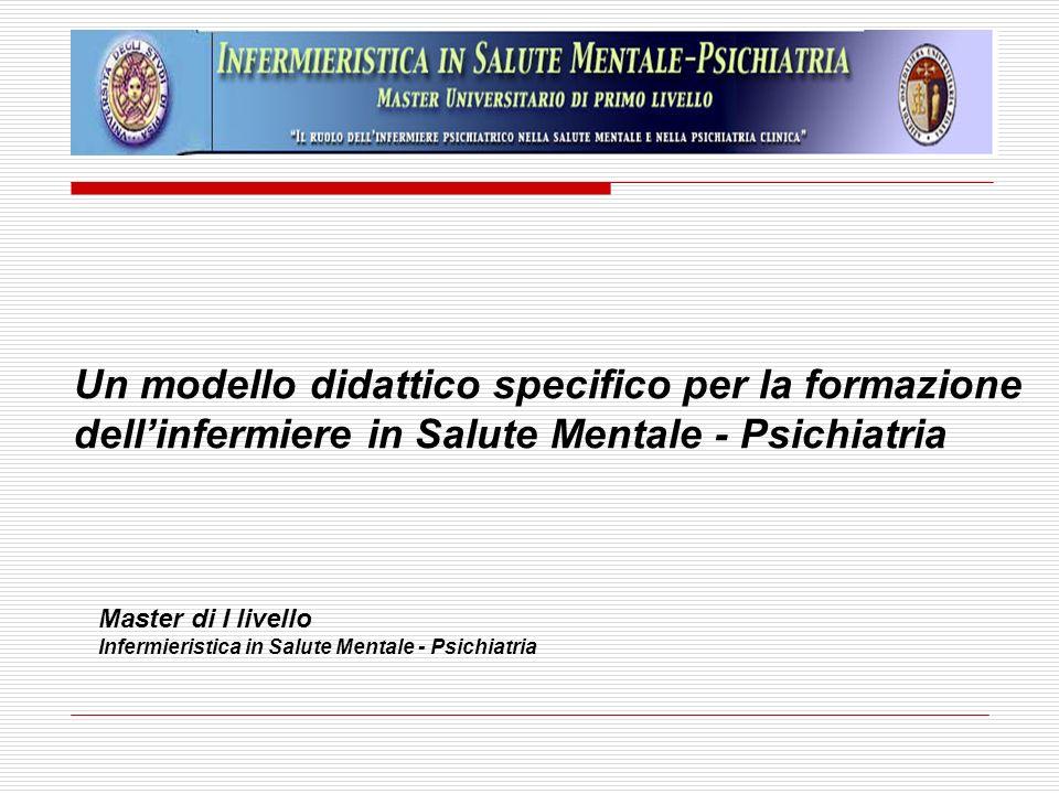 Un modello didattico specifico per la formazione dell'infermiere in Salute Mentale - Psichiatria