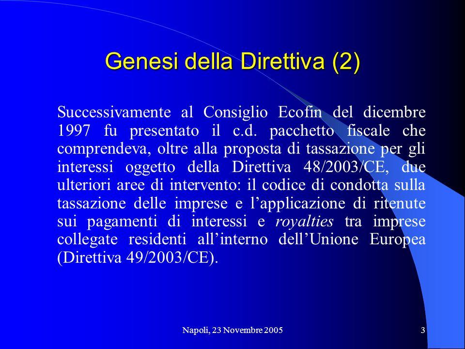 Genesi della Direttiva (2)