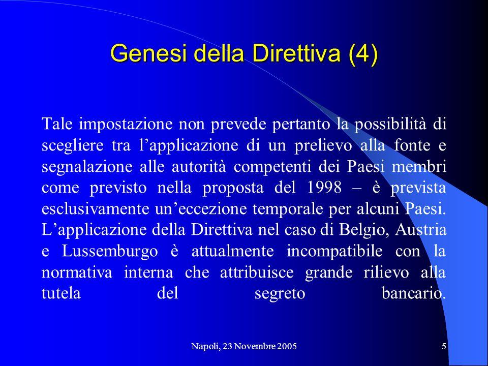 Genesi della Direttiva (4)