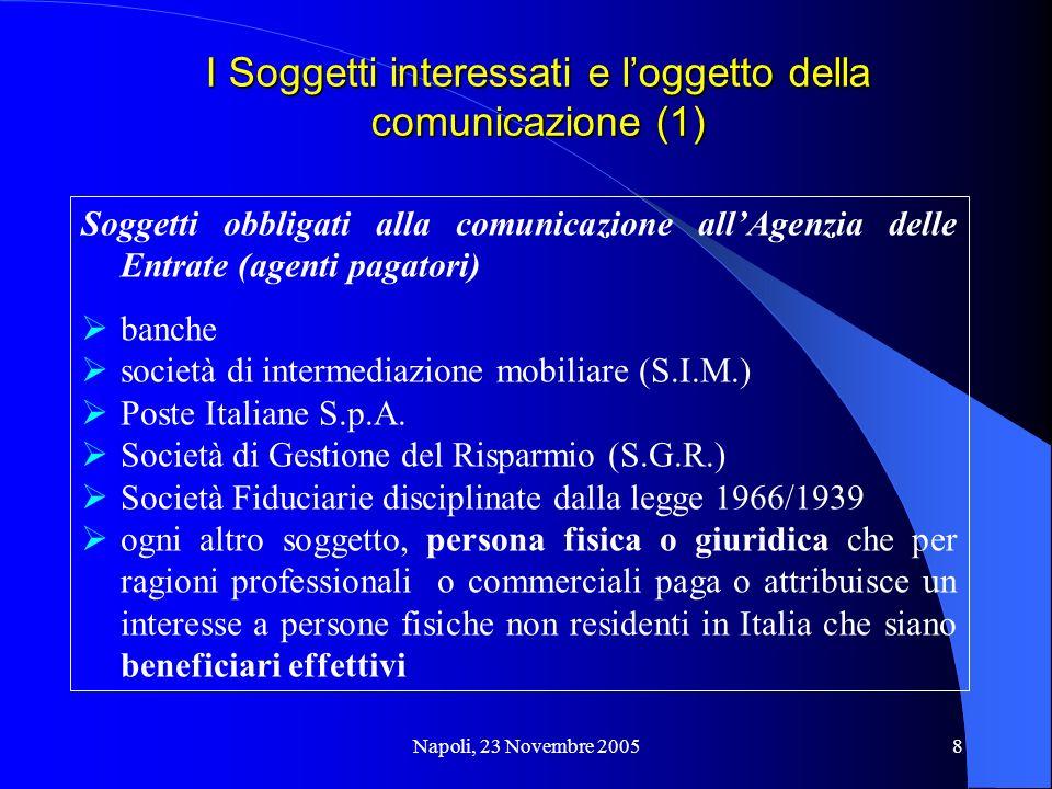 I Soggetti interessati e l'oggetto della comunicazione (1)