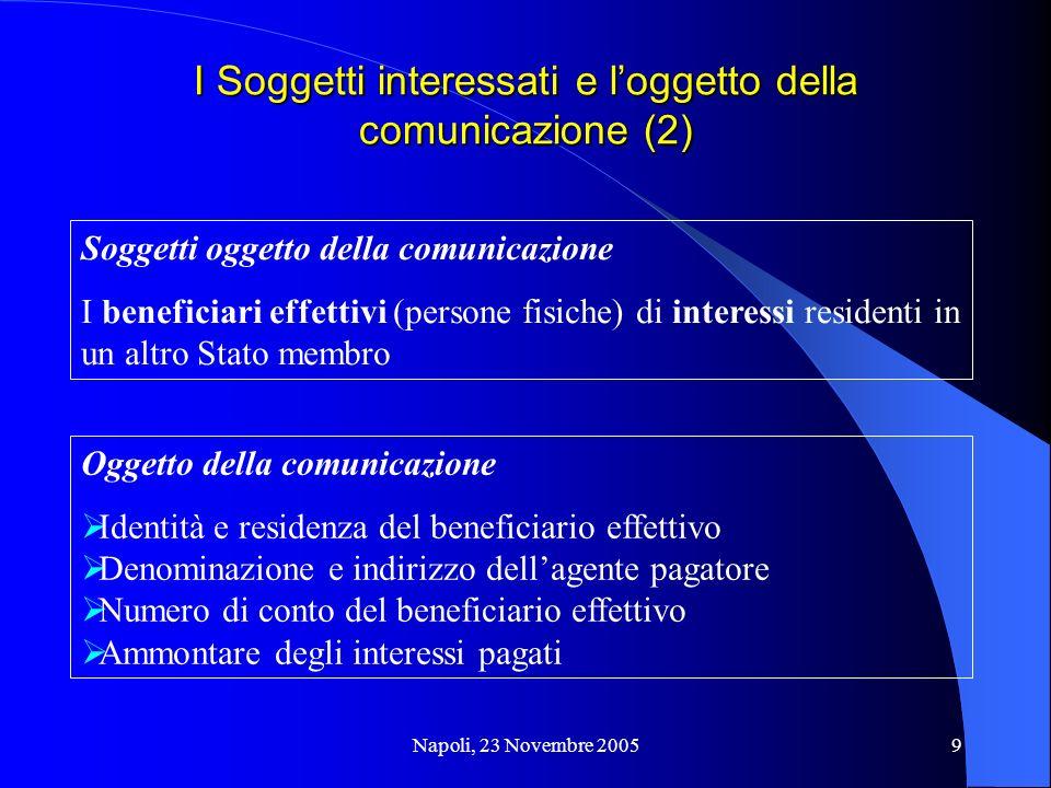 I Soggetti interessati e l'oggetto della comunicazione (2)
