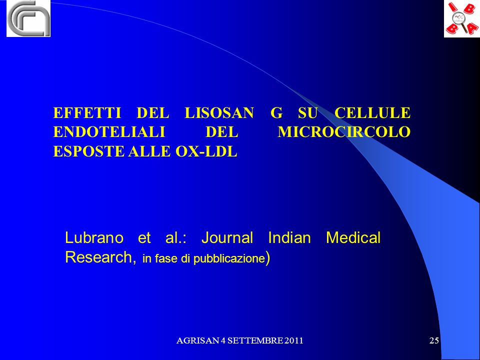 EFFETTI DEL LISOSAN G SU CELLULE ENDOTELIALI DEL MICROCIRCOLO ESPOSTE ALLE OX-LDL